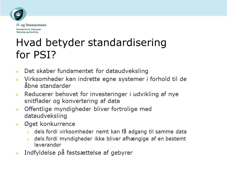Hvad betyder standardisering for PSI.