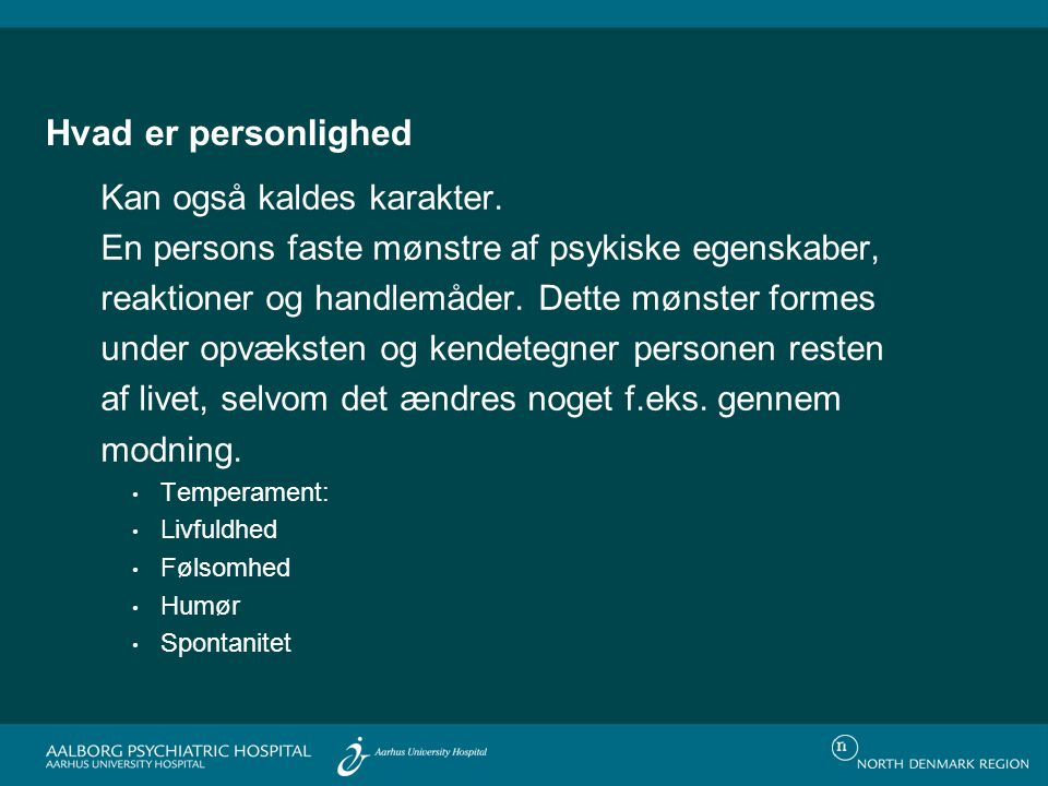 Planlagt revisison af DSM-IV (DSM-V i 2013) Forlag til revision af DSM-V med 6 personlighedsforstyrrelser, link til APA´s hjemmeside: http://www.dsm5.org/proposedrevision/Pages/Personality Disorders.aspx 64