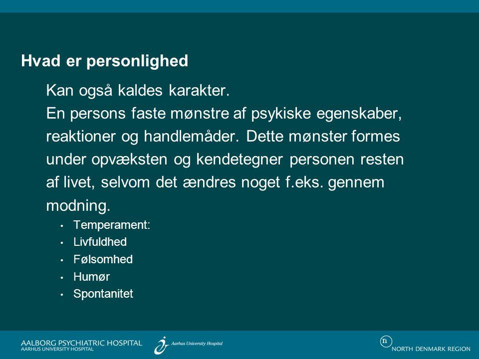 Personlighed ..