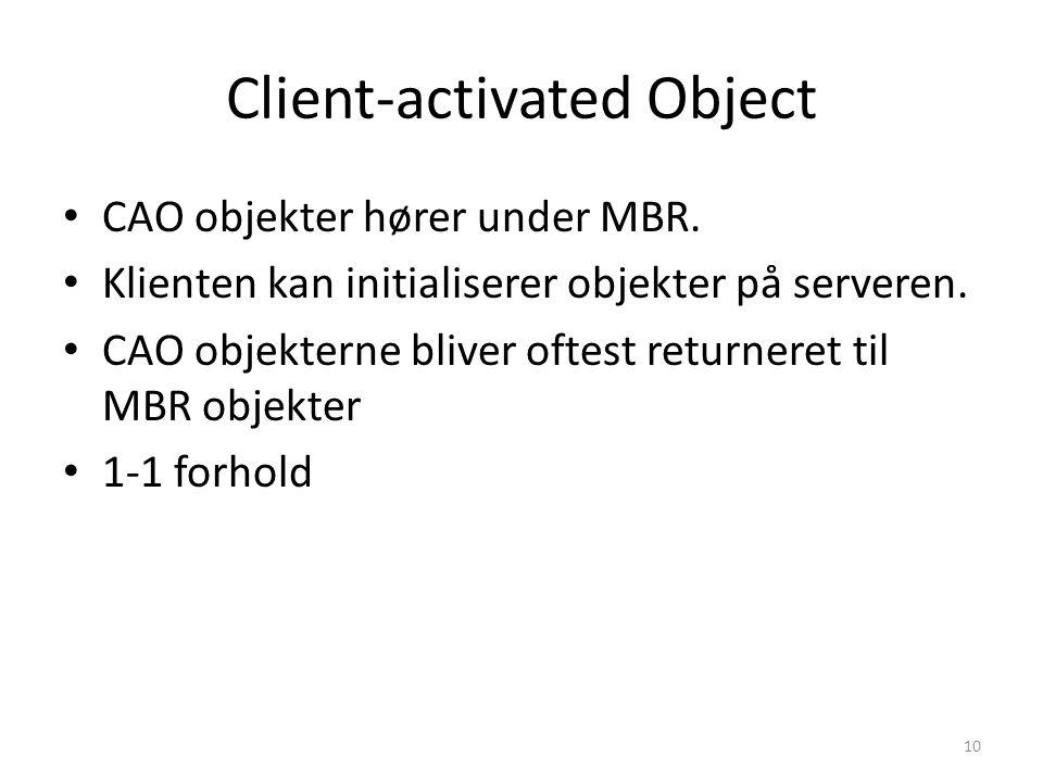 Client-activated Object CAO objekter hører under MBR.