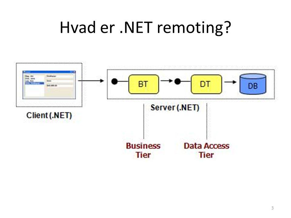 Hvad er.NET remoting 3