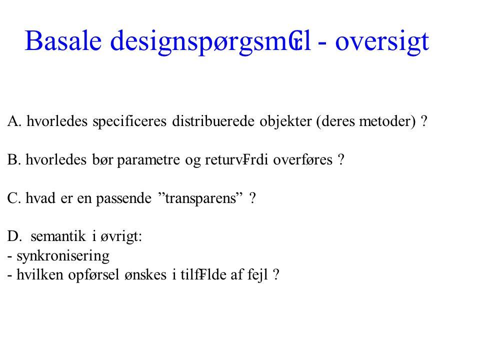 Basale designspørgsm ₢ l - oversigt A.