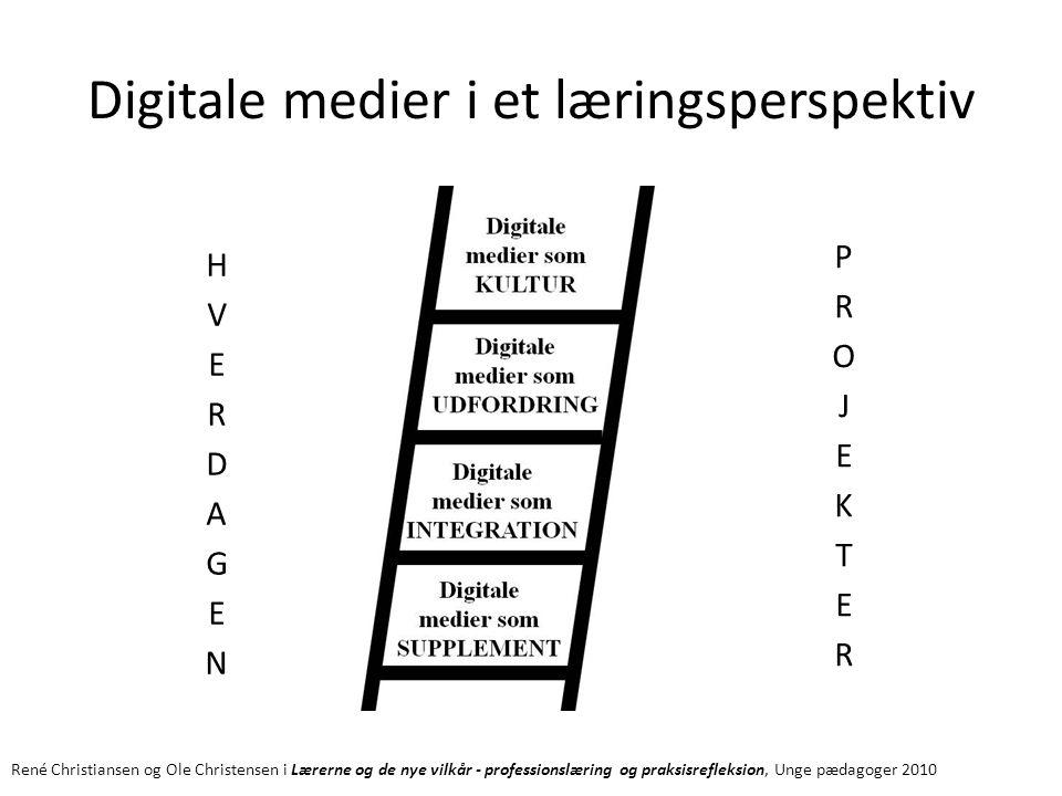 Digitale medier i et læringsperspektiv René Christiansen og Ole Christensen i Lærerne og de nye vilkår - professionslæring og praksisrefleksion, Unge pædagoger 2010