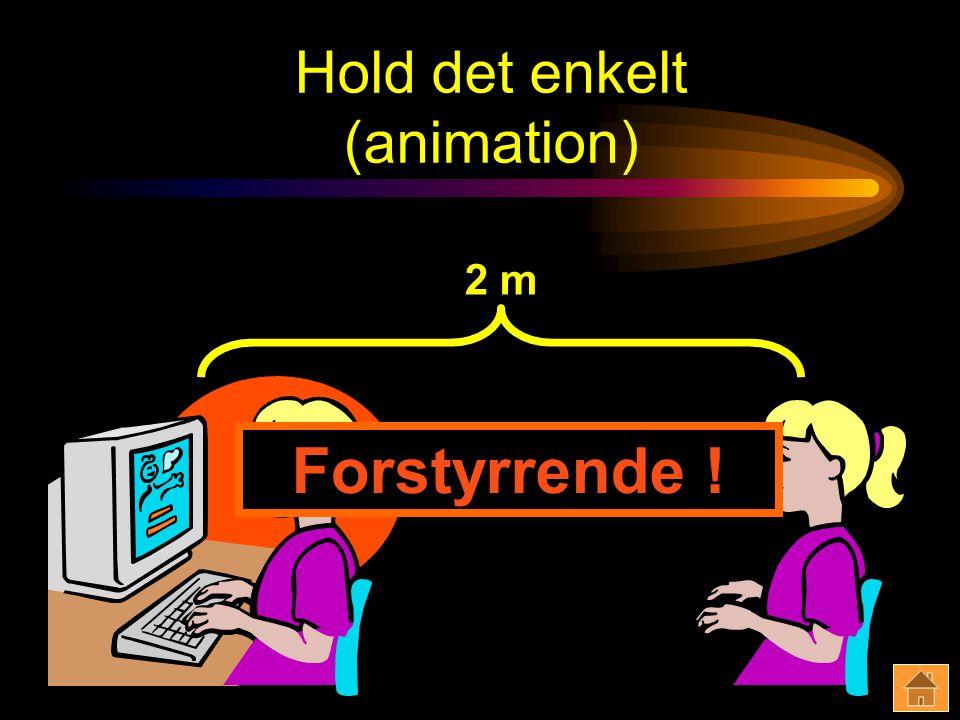 Hold det enkelt (animation) 2 m Forstyrrende !