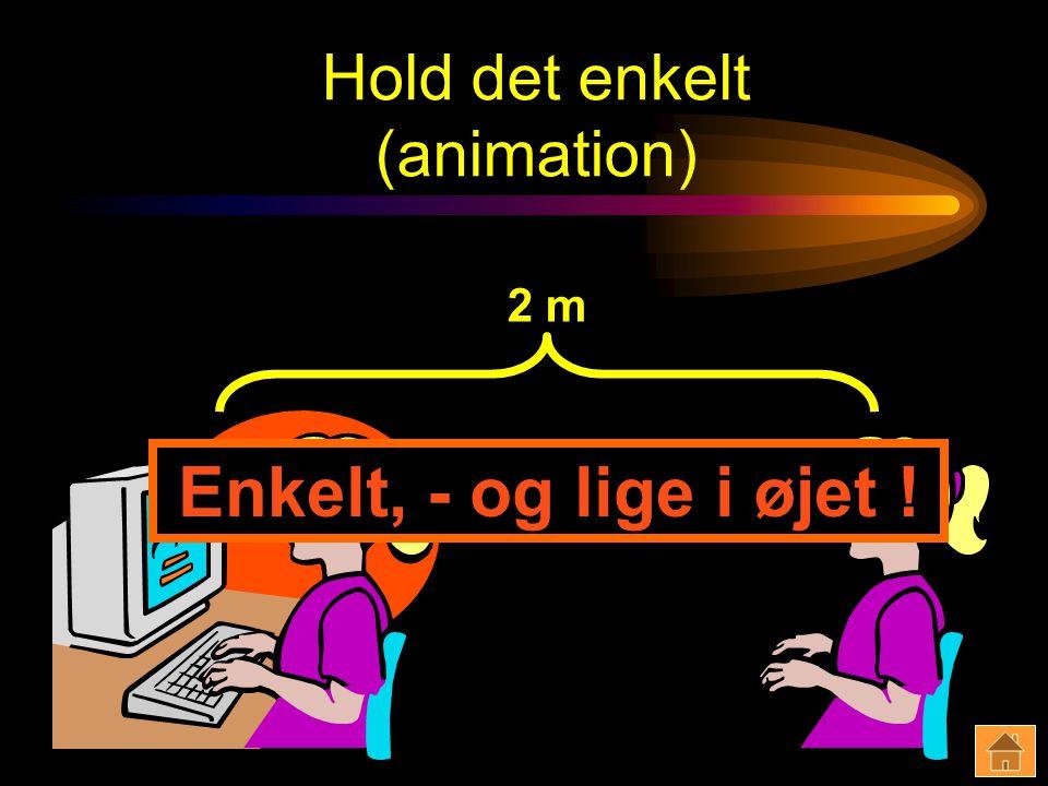 Hold det enkelt (animation) 2 m Enkelt, - og lige i øjet !