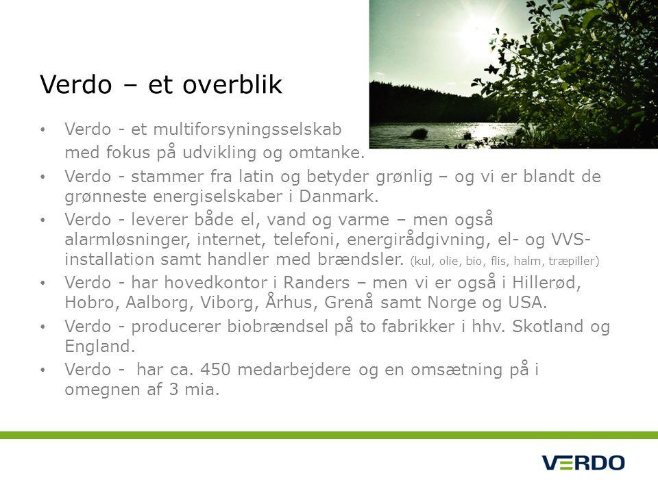 Verdo - et multiforsyningsselskab med fokus på udvikling og omtanke.