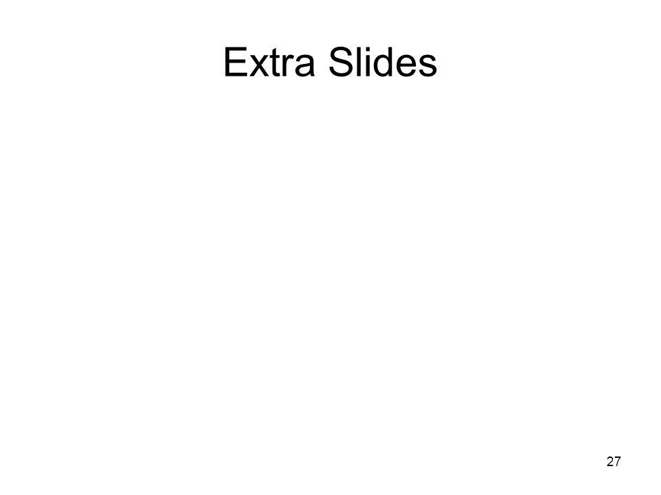 27 Extra Slides