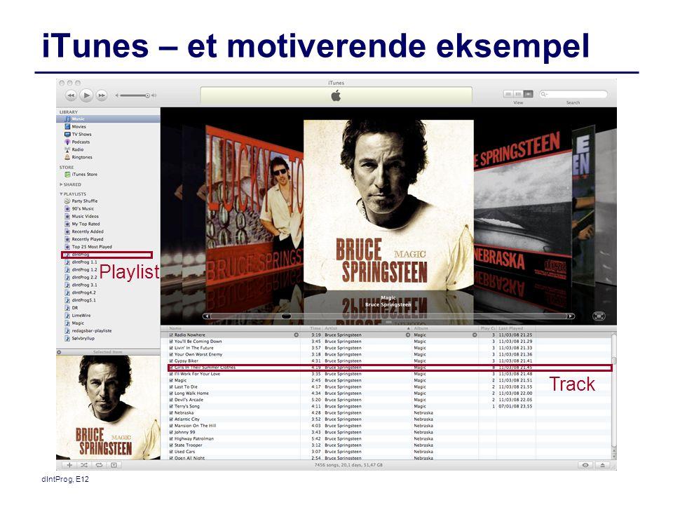 iTunes – et motiverende eksempel Track Playlist