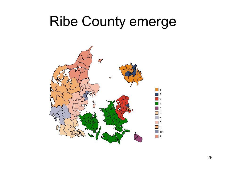 26 Ribe County emerge
