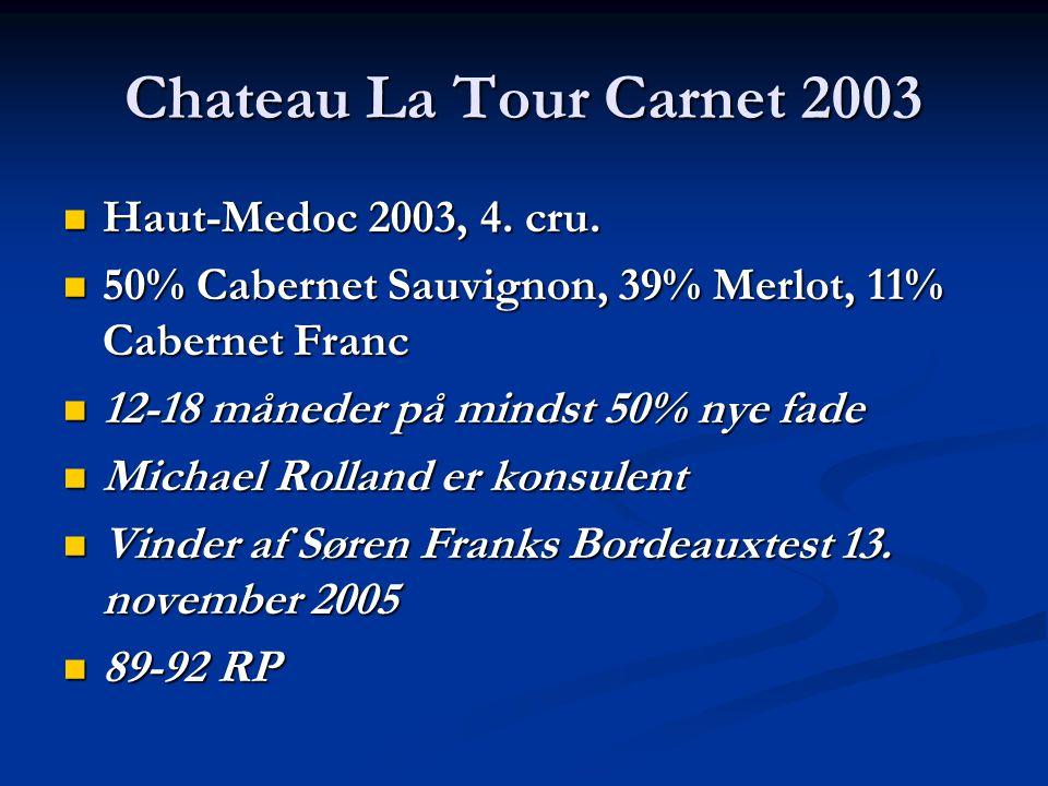 Chateau La Tour Carnet 2003 Haut-Medoc 2003, 4. cru.