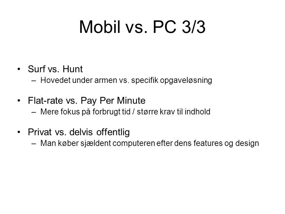 Mobil vs. PC 3/3 Surf vs. Hunt –Hovedet under armen vs.