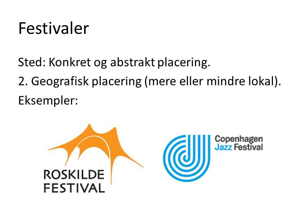 Festivaler Sted: Konkret og abstrakt placering. 2.