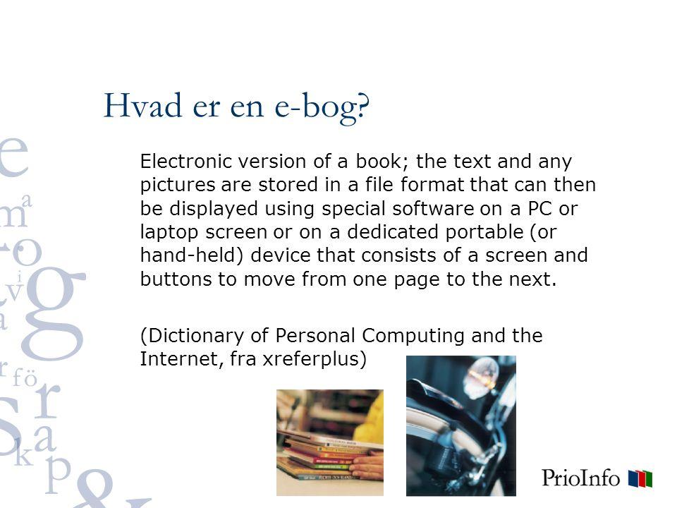 Hvad er en e-bog.