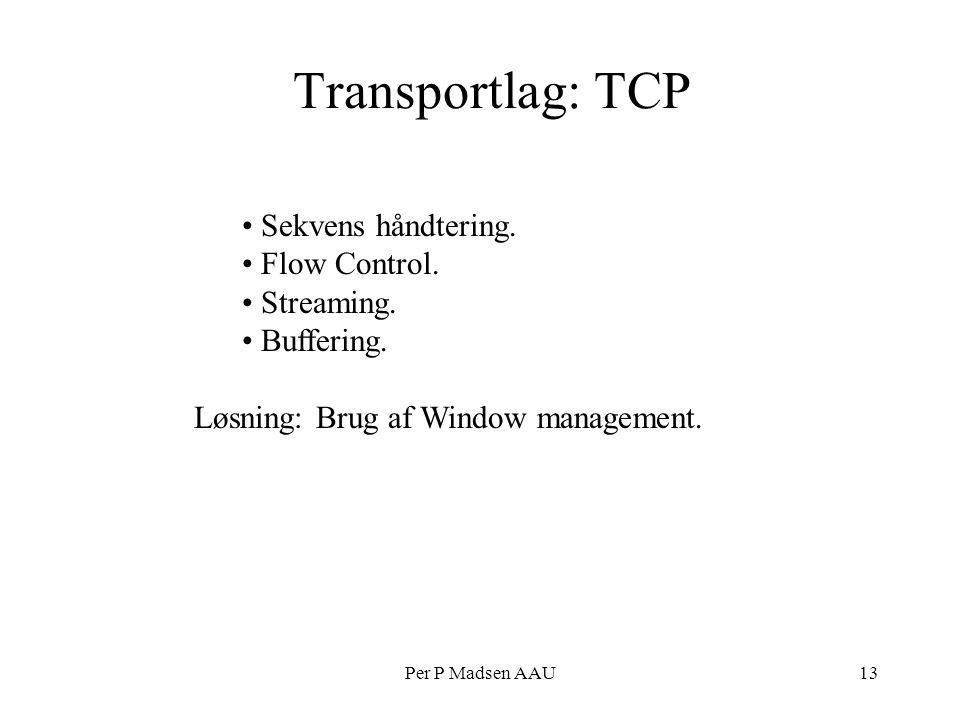 Per P Madsen AAU13 Transportlag: TCP Sekvens håndtering.