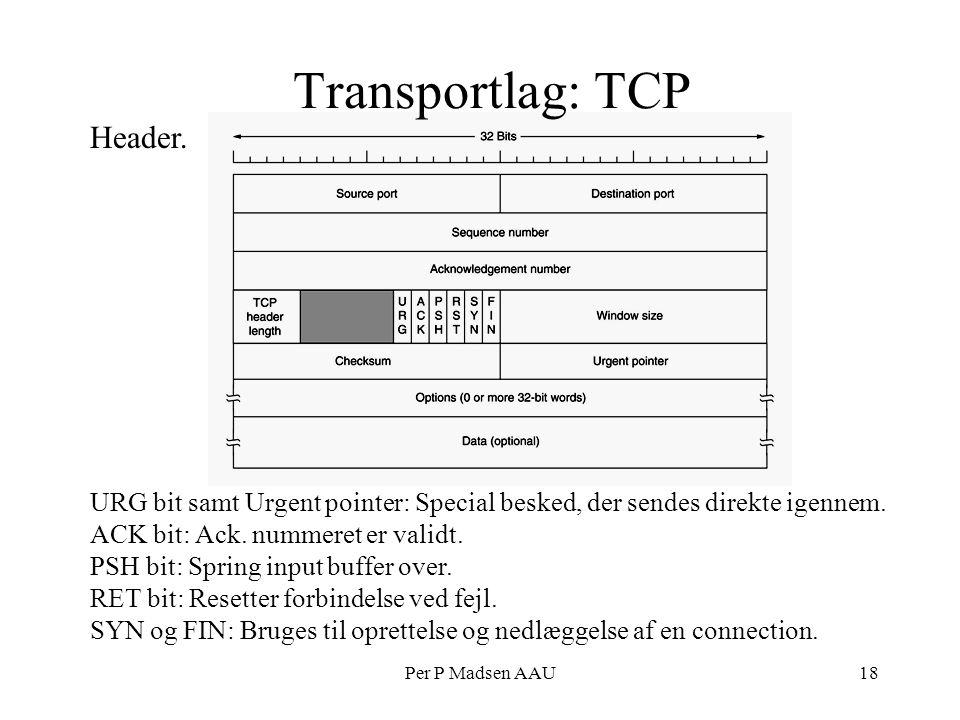 Per P Madsen AAU18 Transportlag: TCP Header.
