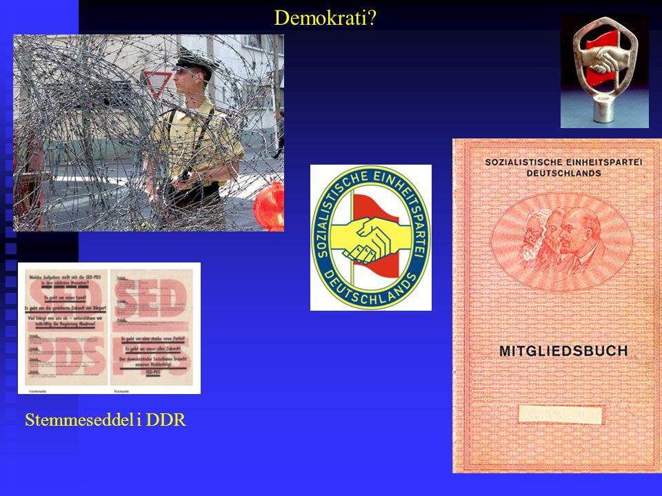 Demokrati Stemmeseddel i DDR