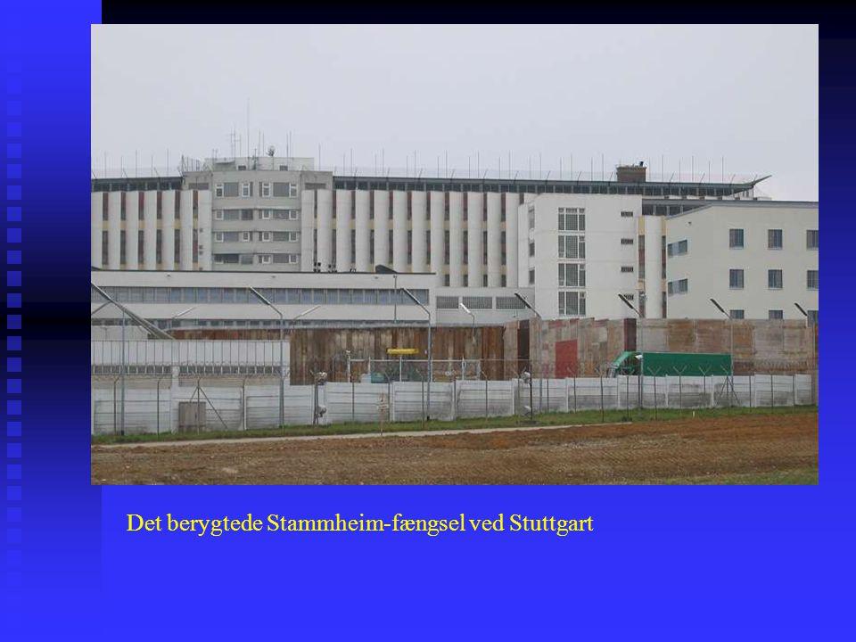 Det berygtede Stammheim-fængsel ved Stuttgart