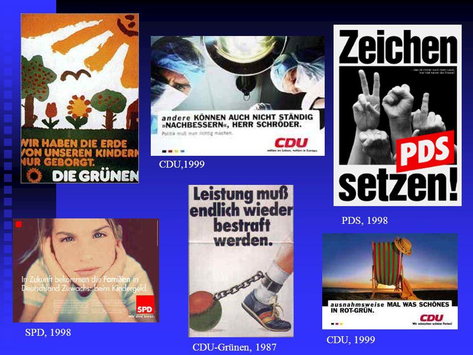 CDU-Grünen, 1987 CDU, 1999 SPD, 1998 PDS, 1998 CDU,1999
