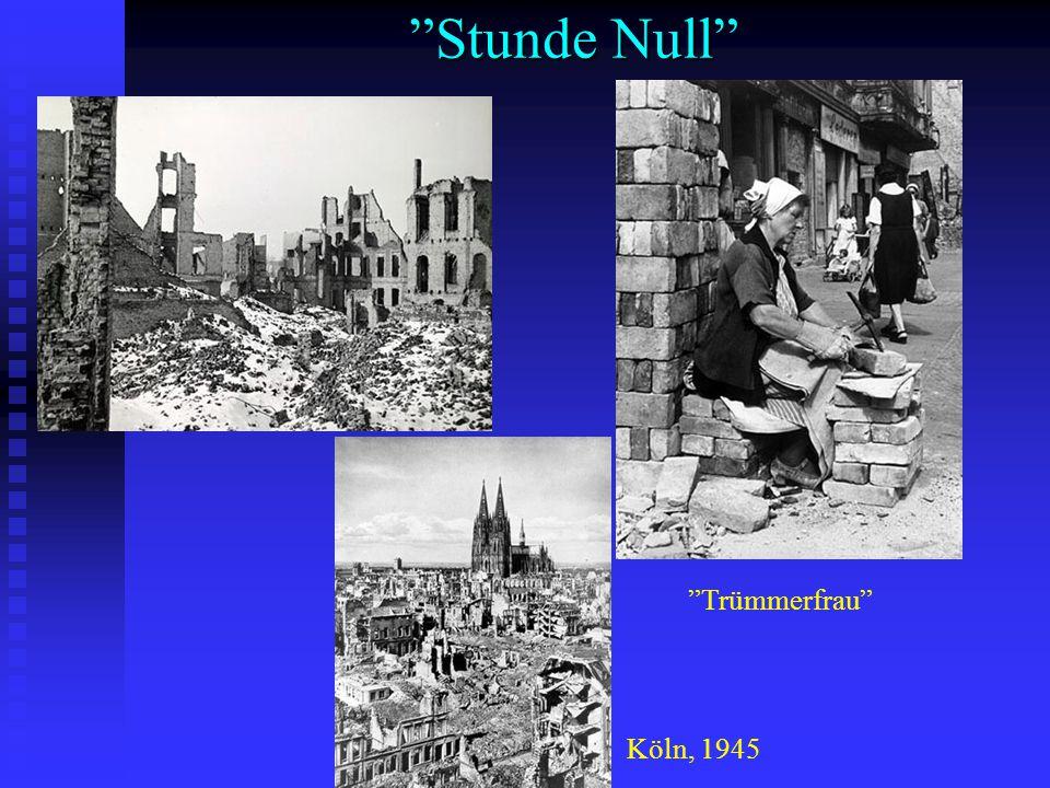 Stunde Null Trümmerfrau Köln, 1945