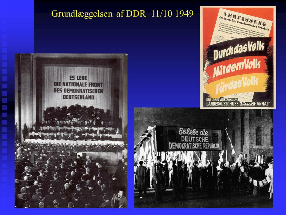 Grundlæggelsen af DDR 11/10 1949