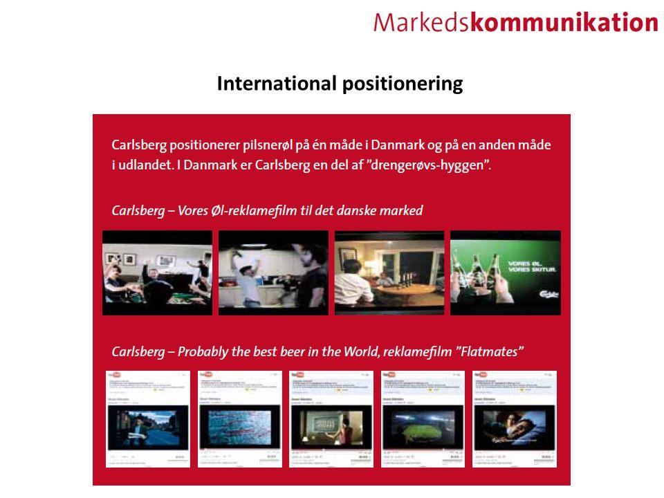 International positionering