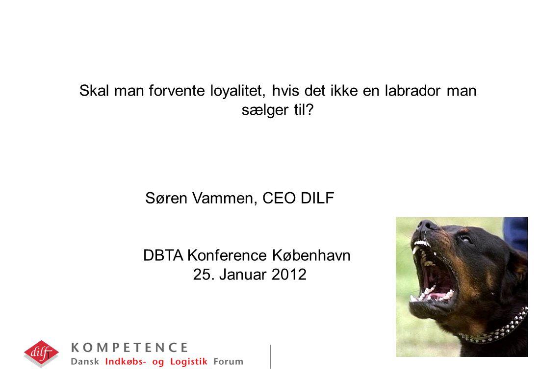 1 Skal man forvente loyalitet, hvis det ikke en labrador man sælger til.
