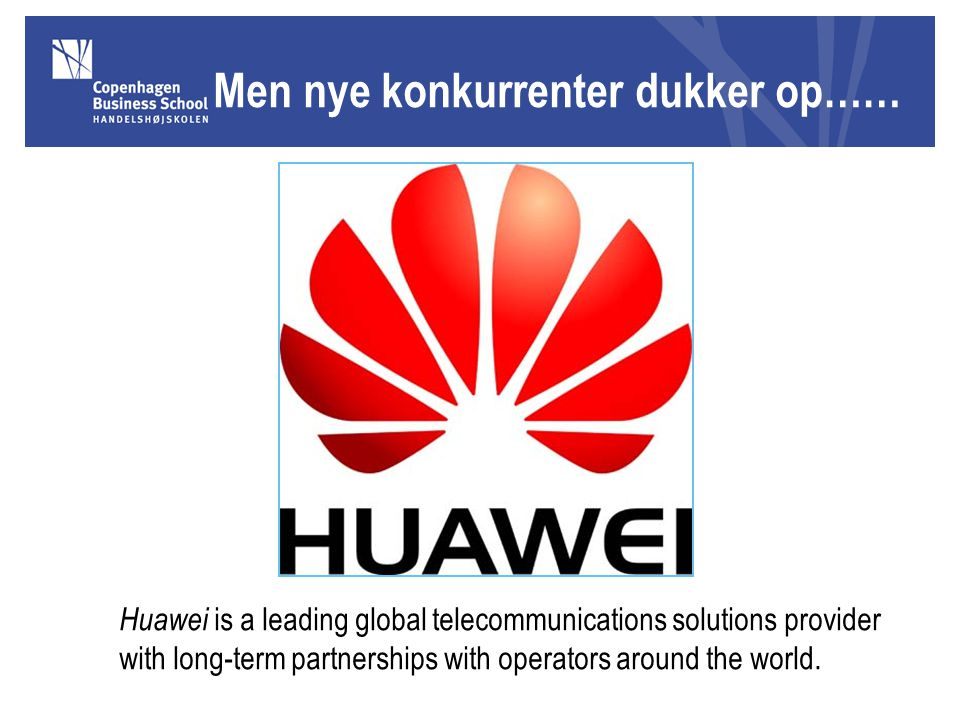 Huawei is a leading global telecommunications solutions provider with long-term partnerships with operators around the world.