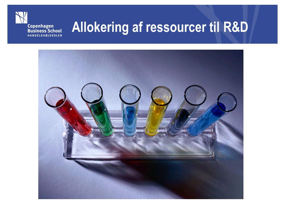 Allokering af ressourcer til R&D