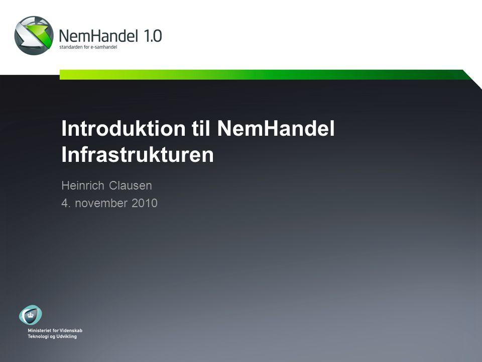 Introduktion til NemHandel Infrastrukturen Heinrich Clausen 4. november 2010