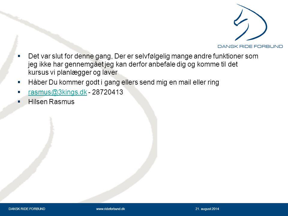 DANSK RIDE FORBUNDwww.rideforbund.dk21.