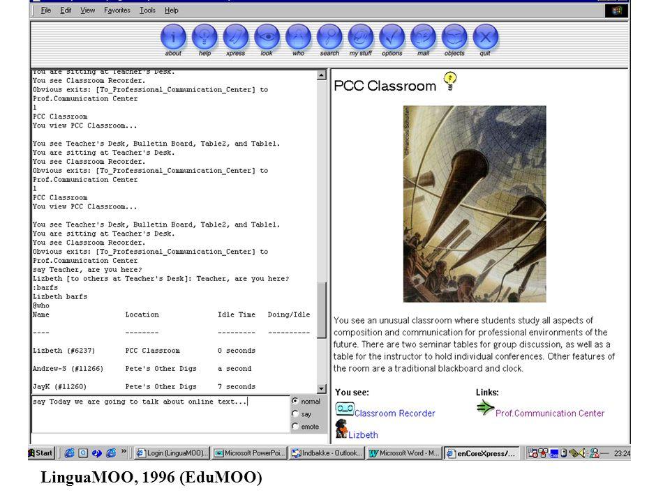 LinguaMOO, 1996 (EduMOO)