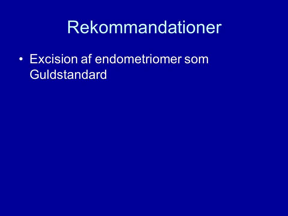Rekommandationer Excision af endometriomer som Guldstandard