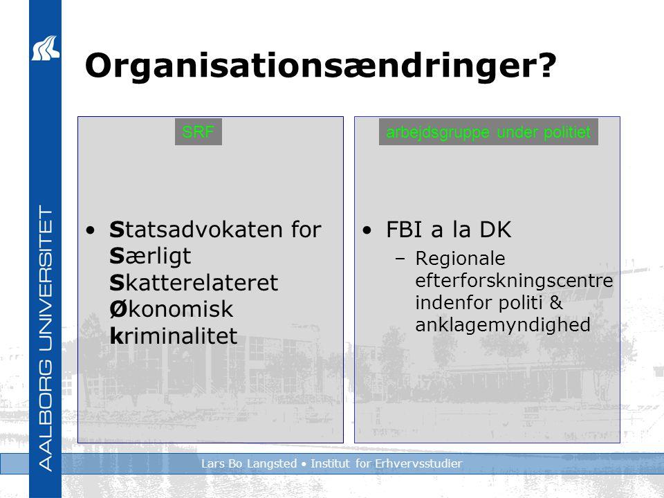 Lars Bo Langsted Institut for Erhvervsstudier Organisationsændringer.