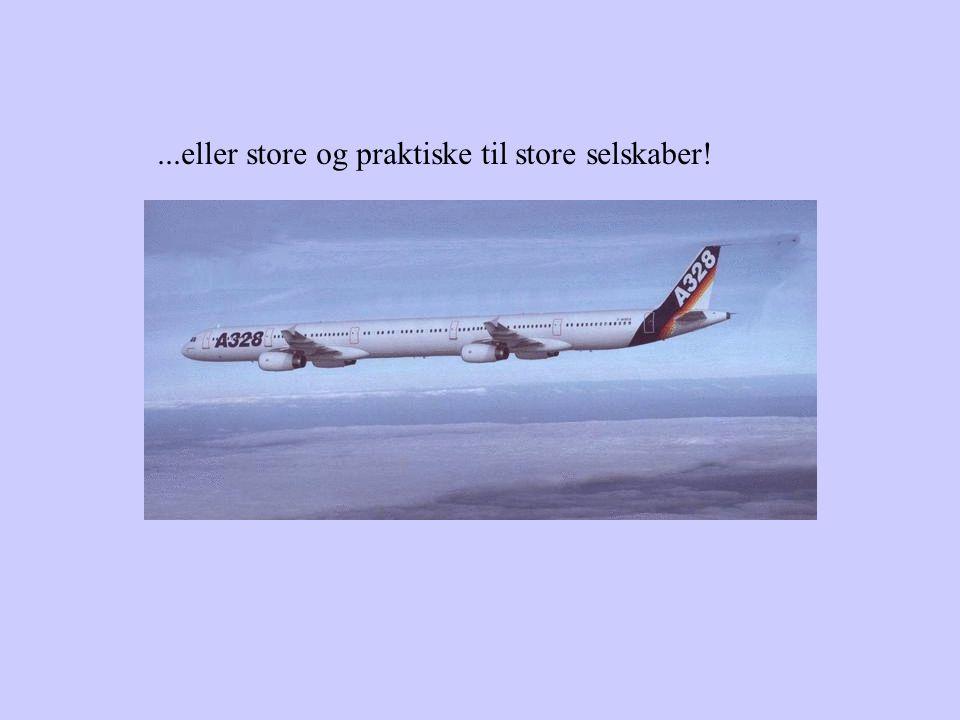 Vores flyvere er små og hurtige...