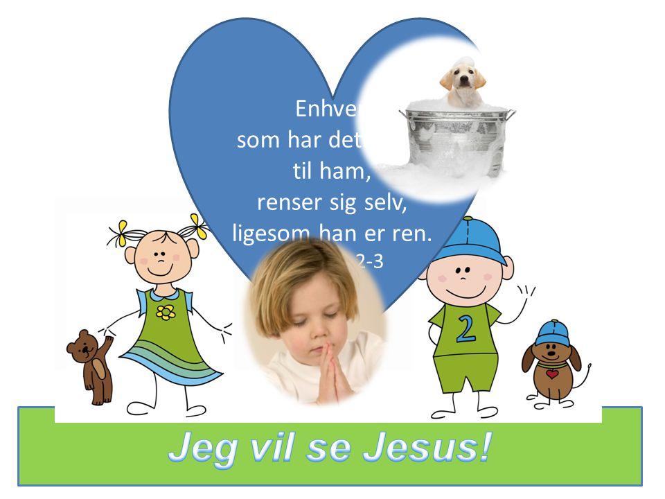 Enhver, som har dette håb til ham, renser sig selv, ligesom han er ren. 1. Joh.3,2-3
