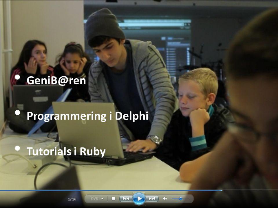 GeniB@ren Programmering i Delphi Tutorials i Ruby