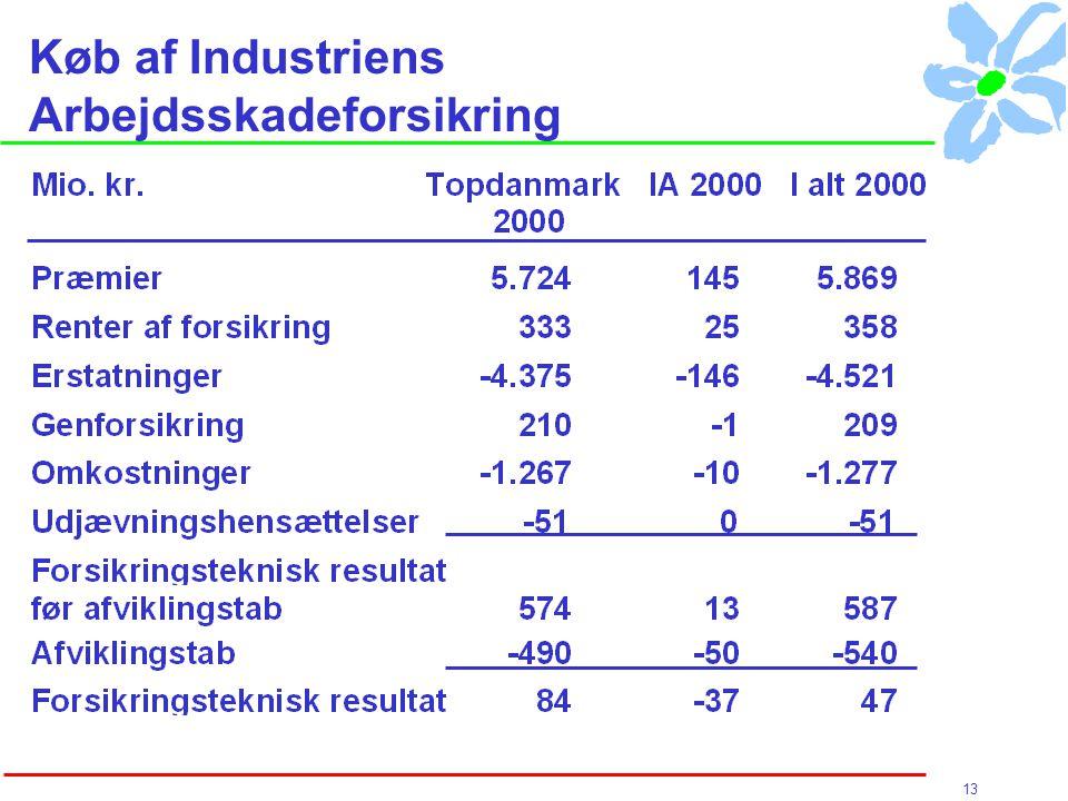 13 Køb af Industriens Arbejdsskadeforsikring