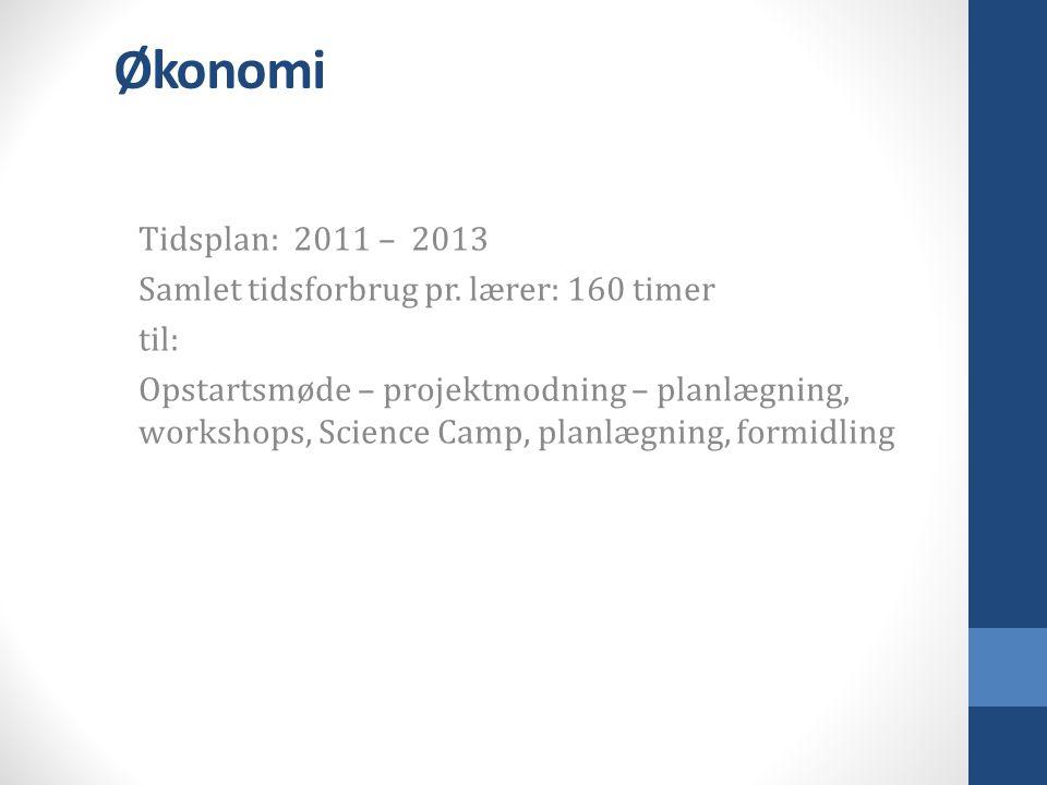 Økonomi Tidsplan: 2011 – 2013 Samlet tidsforbrug pr.
