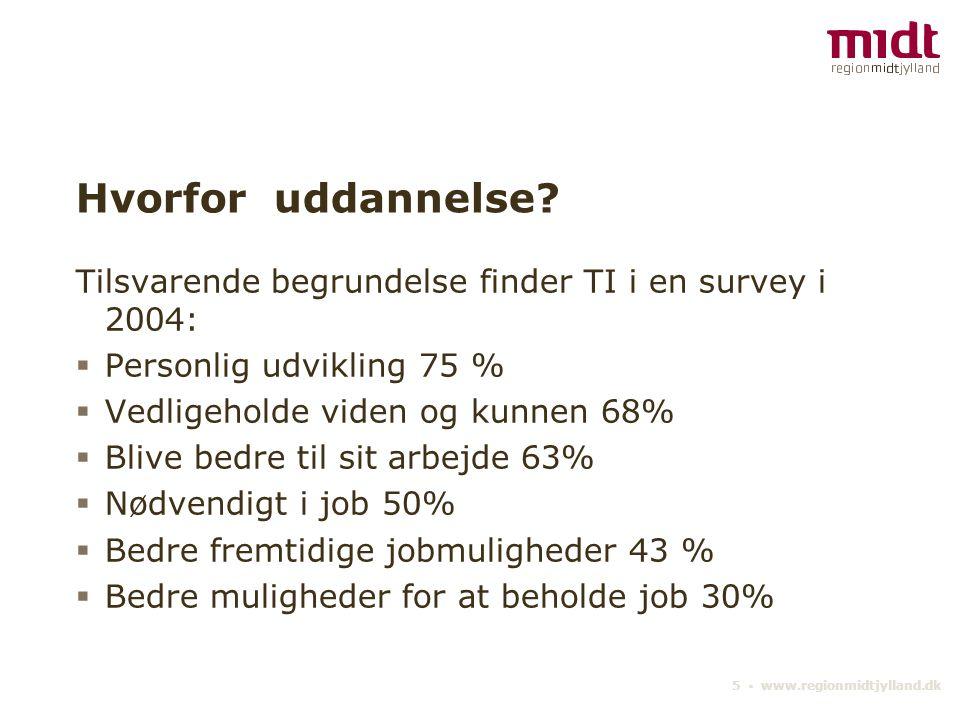 5 ▪ www.regionmidtjylland.dk Hvorfor uddannelse.