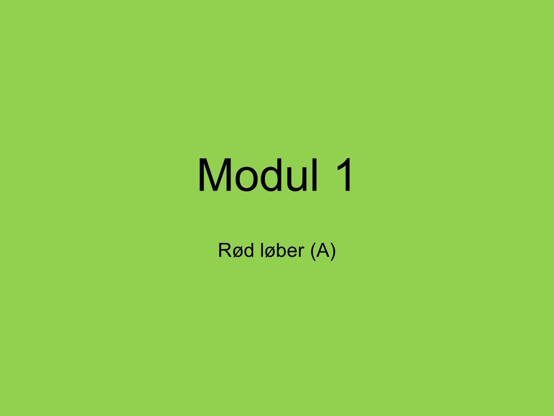 Modul 1 Rød løber (A)