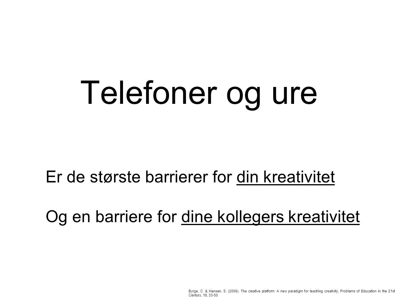 Telefoner og ure Byrge, C. & Hansen, S. (2009).