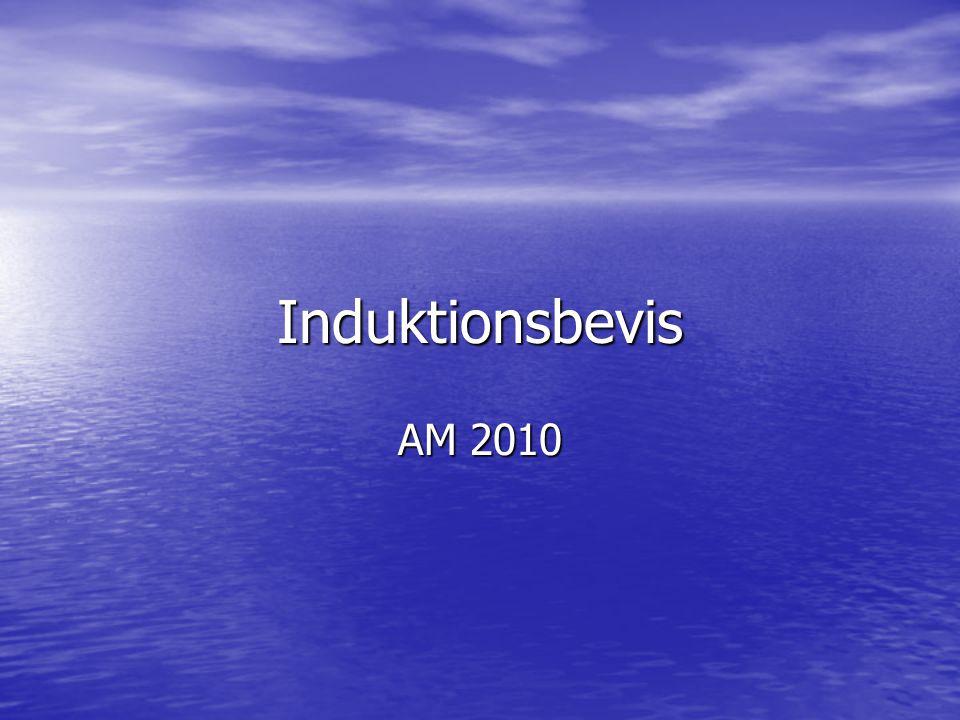 Induktionsbevis AM 2010