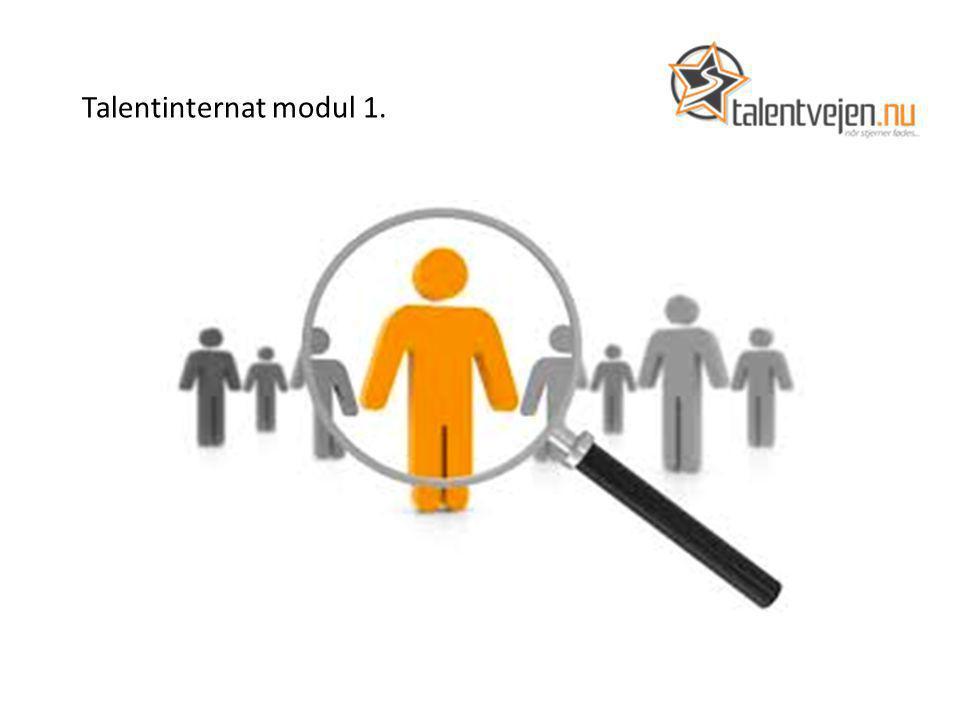 Talentinternat modul 1.