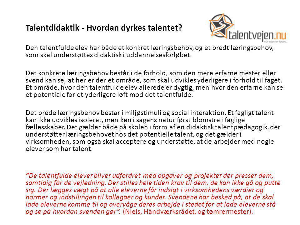 Talentdidaktik - Hvordan dyrkes talentet.