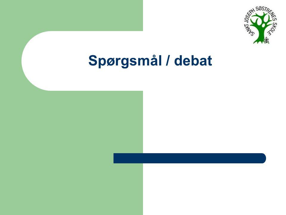 Spørgsmål / debat