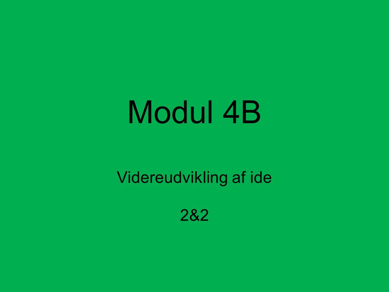 Modul 4B Videreudvikling af ide 2&2