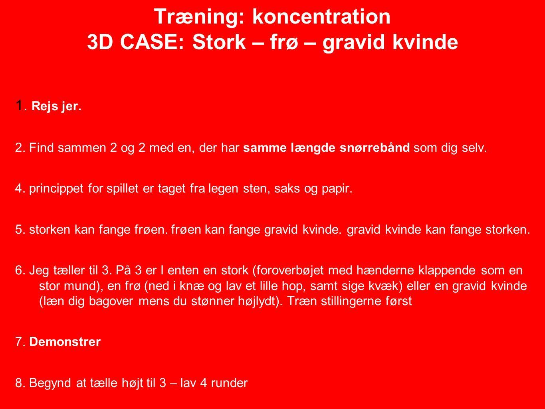 Træning: koncentration 3D CASE: Stork – frø – gravid kvinde 1.