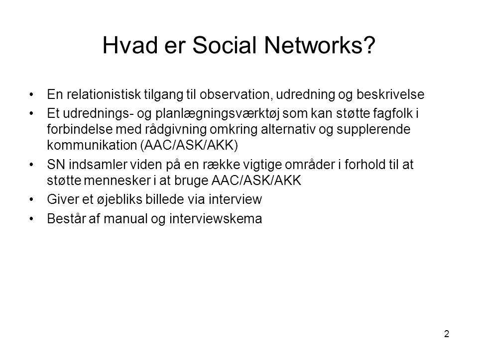 2 Hvad er Social Networks.