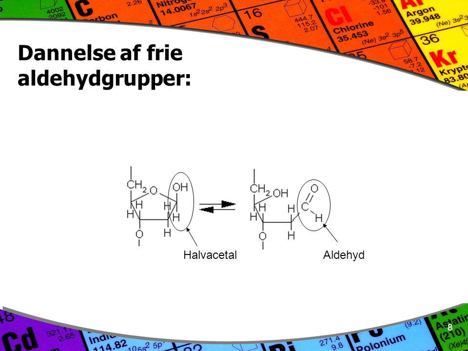 8 Dannelse af frie aldehydgrupper: Halvacetal Aldehyd