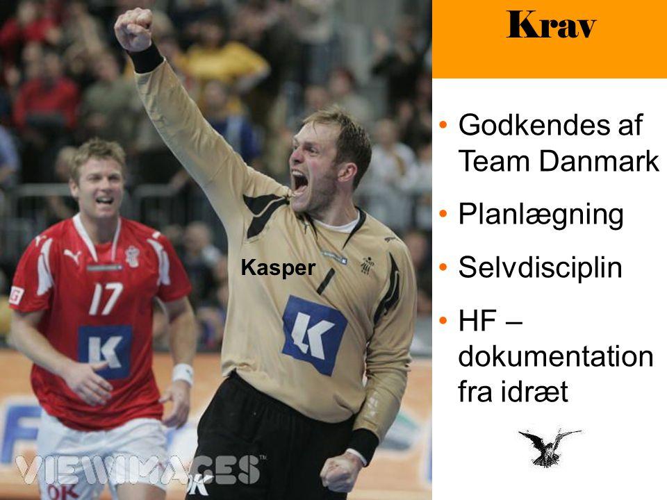 Kasper Krav Godkendes af Team Danmark Planlægning Selvdisciplin HF – dokumentation fra idræt